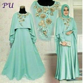 Muslimah long sleeve Mawar maxi Dress bridesmaid