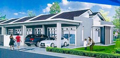 NEW Single Storey House(20x85) (Freehold,Open Title)at Kg Padang