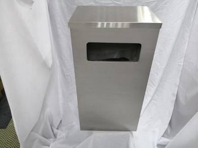 Stainless steel rectangular bin flat/ashtray top