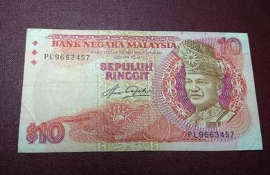 Malaysia Old Banknotes RM 10 ( Taha Sign)