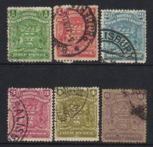 RHODESIA 1898 old selection CAT 10+ BJ706