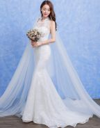 Backless Mermaid Lace Sheath Wedding Dress