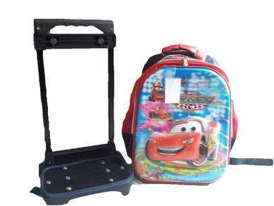 14in 6D Design Trolley Bag School bag *CARS