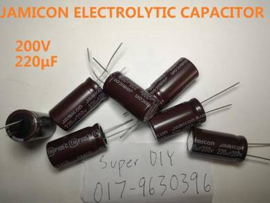 Capacitor 200V 220 μF Electrolytic capacitor