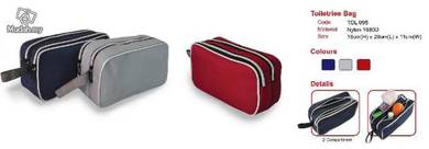2 compartment toiletries bag