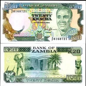 Zambia 20 kwacha 1989-91 p 32 unc