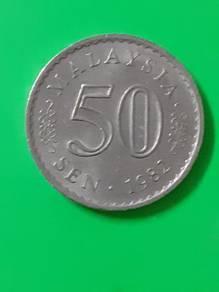 EEQ 50sen 1982 duit syiling 50 sen parlimen coin