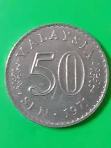 EEQ Duit 50sen 1971 syiling 50 sen parlimen coin