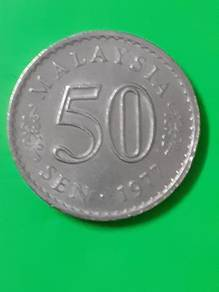 EEQ Duit 50sen 1977 syiling 50 sen parlimen coin