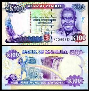 Zambia 100 kwacha 1991 p 34a unc