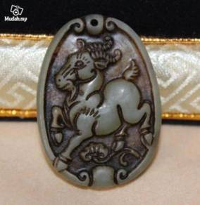 ABPJ-S003 OLD JADE HANDCARVED PENDANT - Sheep