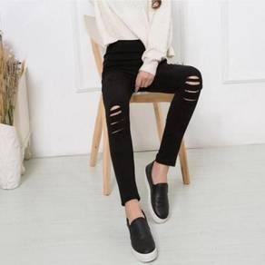 High Waist Wild Slim Elastic Pants WFCZX 31223