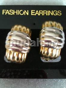 Silver and Gold plated clip earring
