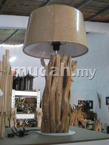 Aipj Table light with vine wood and lamp shade