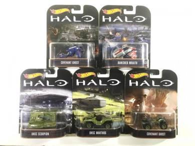 Hotwheels 2017 Retro Ent Halo Set Of 5pcs