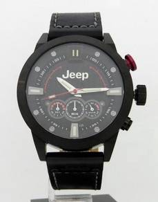 JEEP Men Chronograph Leather Date Watch JP15402