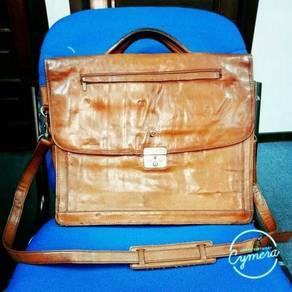 Briefcase Leather Pierre Cardin