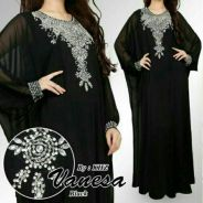 Muslimah long sleeve Kaftan vanesa diamond dress
