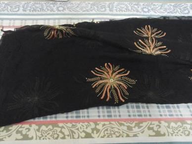 Beautiful black saree with blouse