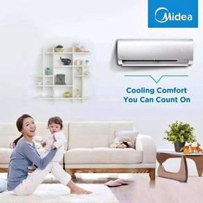 Midea aircond air cond promosi 699*clearances stok