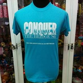 Vintage 80's Conquer The Bridge 86 50/50 T Shirt