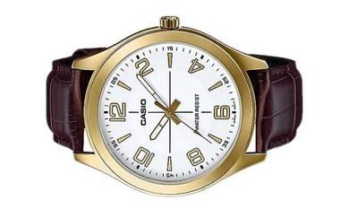 Casio Men Analog Leather Watch MTP-VX01GL-7BUDF