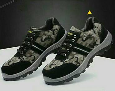 Army Camouflage Green Safety Shoe