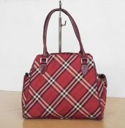 Auth BURBERRY blue label tote bag red kueii