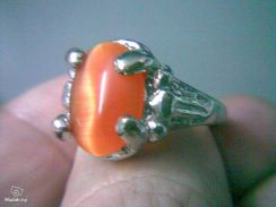 ABRWG-O004 Exotic Orange White GF Ring - Size 7.5
