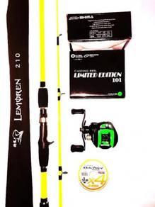 Lemoren solid rod combo awashima limited green