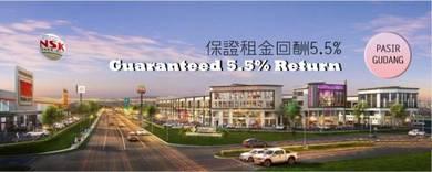 Pasir Gudang CBD 2 Storey Shop with Guaranteed rental return 5.5%