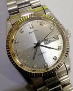 Jam Swiss Boluva ETA Index diamond 1/4 silverwatch