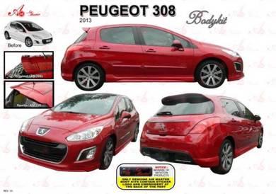 Peugeot 308 bodykit body kit spoiler skirt lip