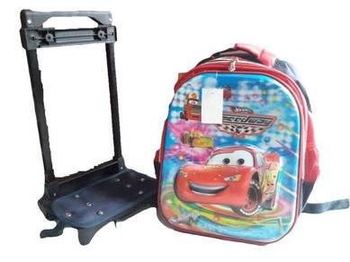 14in 6D Design Trolley Bag School bag CARS MCQUEEN