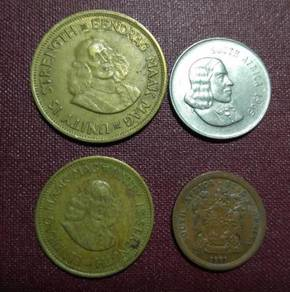 South Africa Old Coins Set