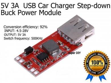 5V 3A USB DC-DC Step-down Buck Power Module 12to5