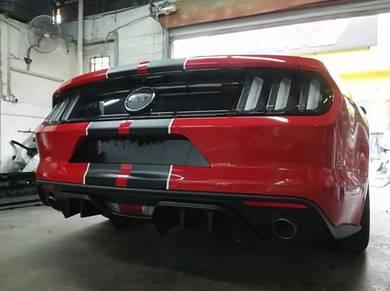 Ford Mustang 2015 GT Rear diffuser spoiler bodykit