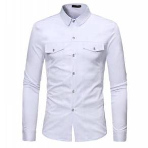 Europe Men's Pure Long-Sleeved Casual MFCYG 9435