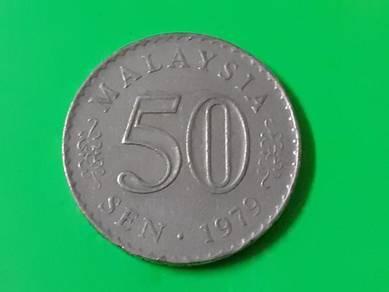 EEQ Duit 50sen 1979 syiling 50 sen parlimen coin
