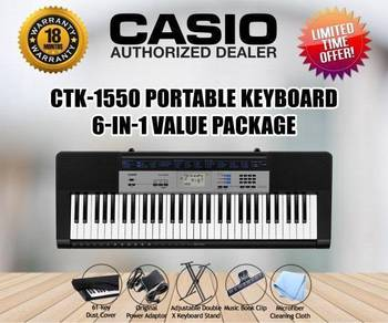 CASIO CTK1550 Keyboard Piano Value Package