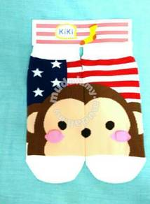 Kawaii 3d little monkey kids sock made in korea