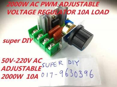 AC 50-220V PWM 2000W Adjustable Voltage Regulator