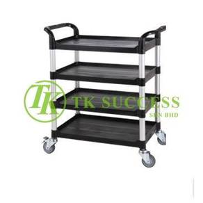 4 Tier Restaurant Utilities Trolley Heavy Duty