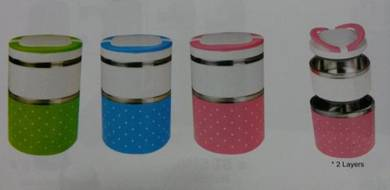 FLORA Double layer stainless steel food container