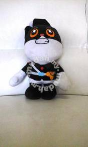 Black cat the police soft toy 12