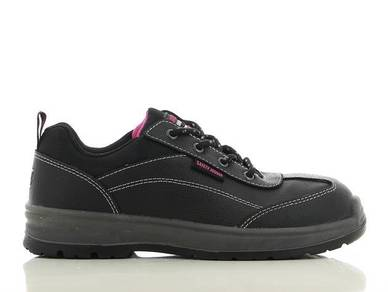 Shoes Safety Jogger BestGirl Lady Black ST PU Low