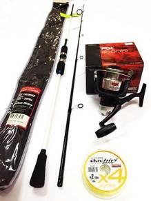 Seahawk cross wave rod combo shimano fx 4000 reel