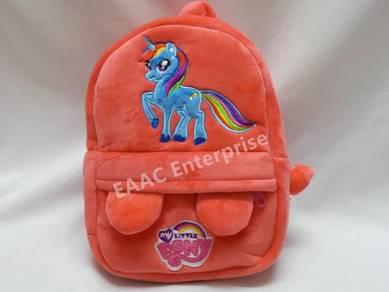 Pony Orange Kid Kindergarten Backpack Bag
