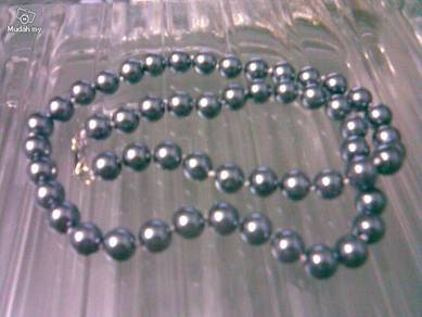 ABNJ-S003 10mm Silver Gray SeaShell Pearl Necklace