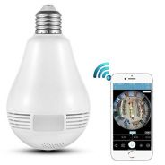 Bulb Cam VR 360 WIFI Panoramic Surveillance IP
